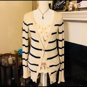 Mossimo Striped Cotton Cardigan (B3)